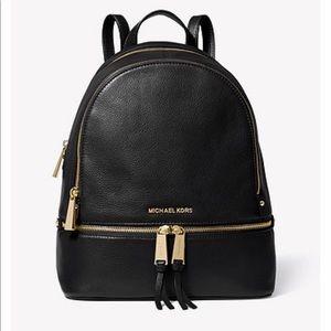 Michael Kors Rhea Medium Leather Backpack & Wallet